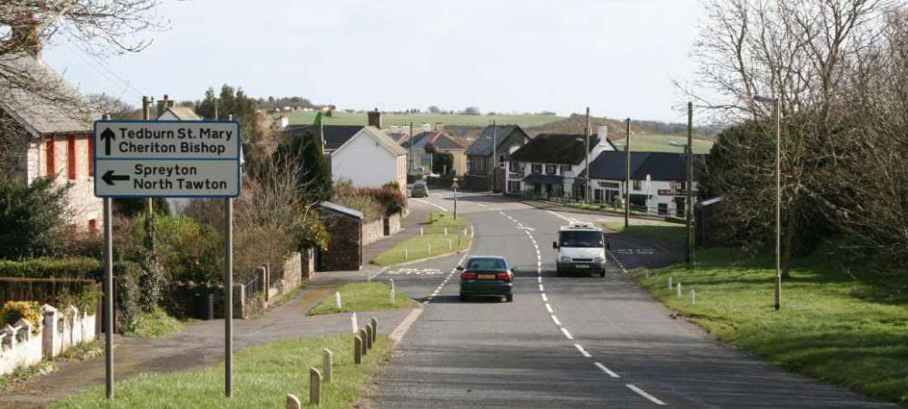 The A382 at Whiddon Down