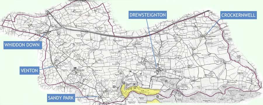 Drewsteignton Parish Map