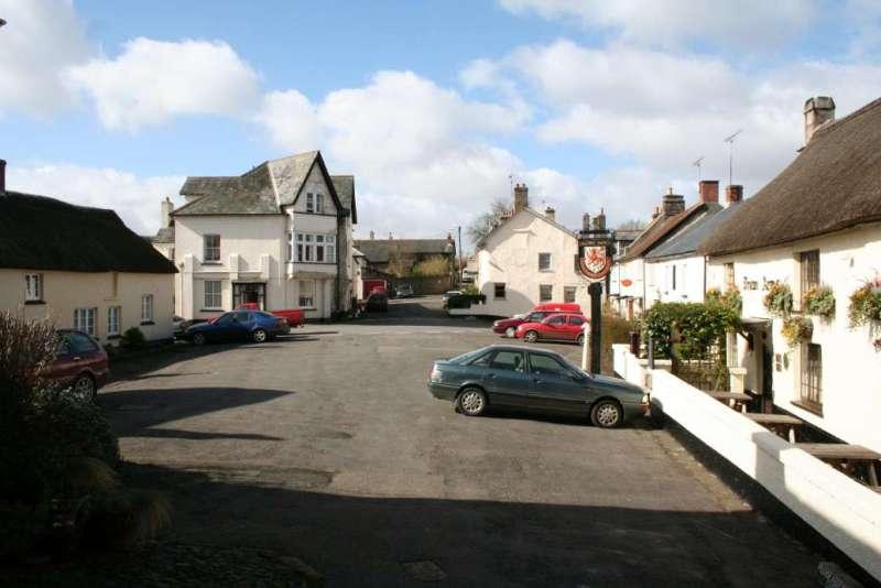 Drewsteignton Square from Church